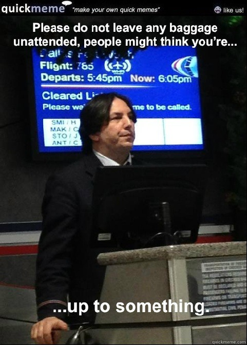 Flying with Air Snape….
