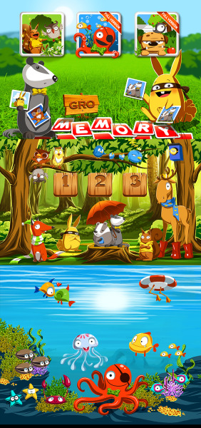 "Art for app game ""Gro Memo"" (2012)"