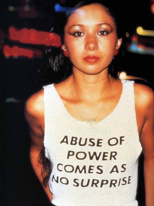 visual-poetry:  »abuse of power comes as no surprise« by jenny holzer (+)