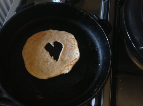 What did I do tonight. Make flour tortillas with hearts in them.