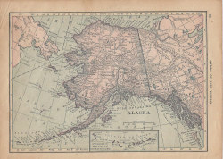 cheekyclayton:  Vintage 1914 map of Alaska l Etsy.
