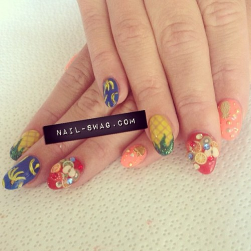 THE FRUIT FLY NAIL for @fruitflylife! #nailswag #nails #nailart #nailartclub #naillabo #swag #LA