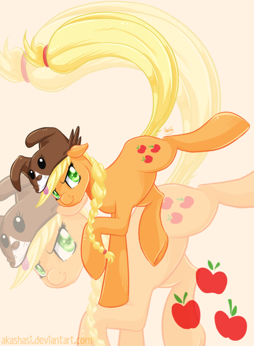 akashasi-art:  Mane Six - Applejack by ~Akashasi