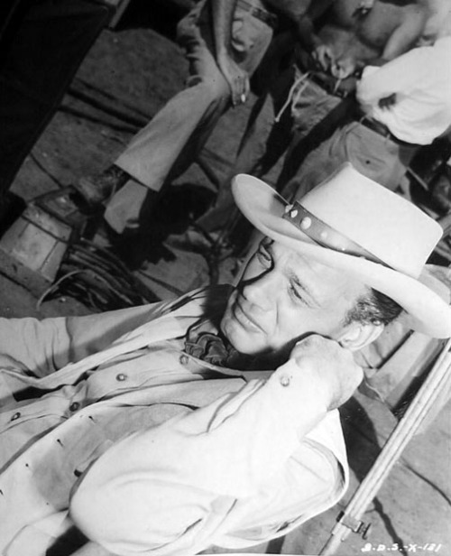 Joseph Cotten between scenes of Duel in the Sun