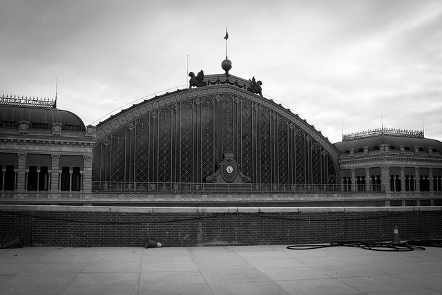 Atocha Station (B&W) on Flickr.