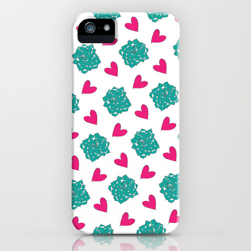 New Years Resolution: Create more patterns. New Succulent Love Pattern iPhone Case for sale here