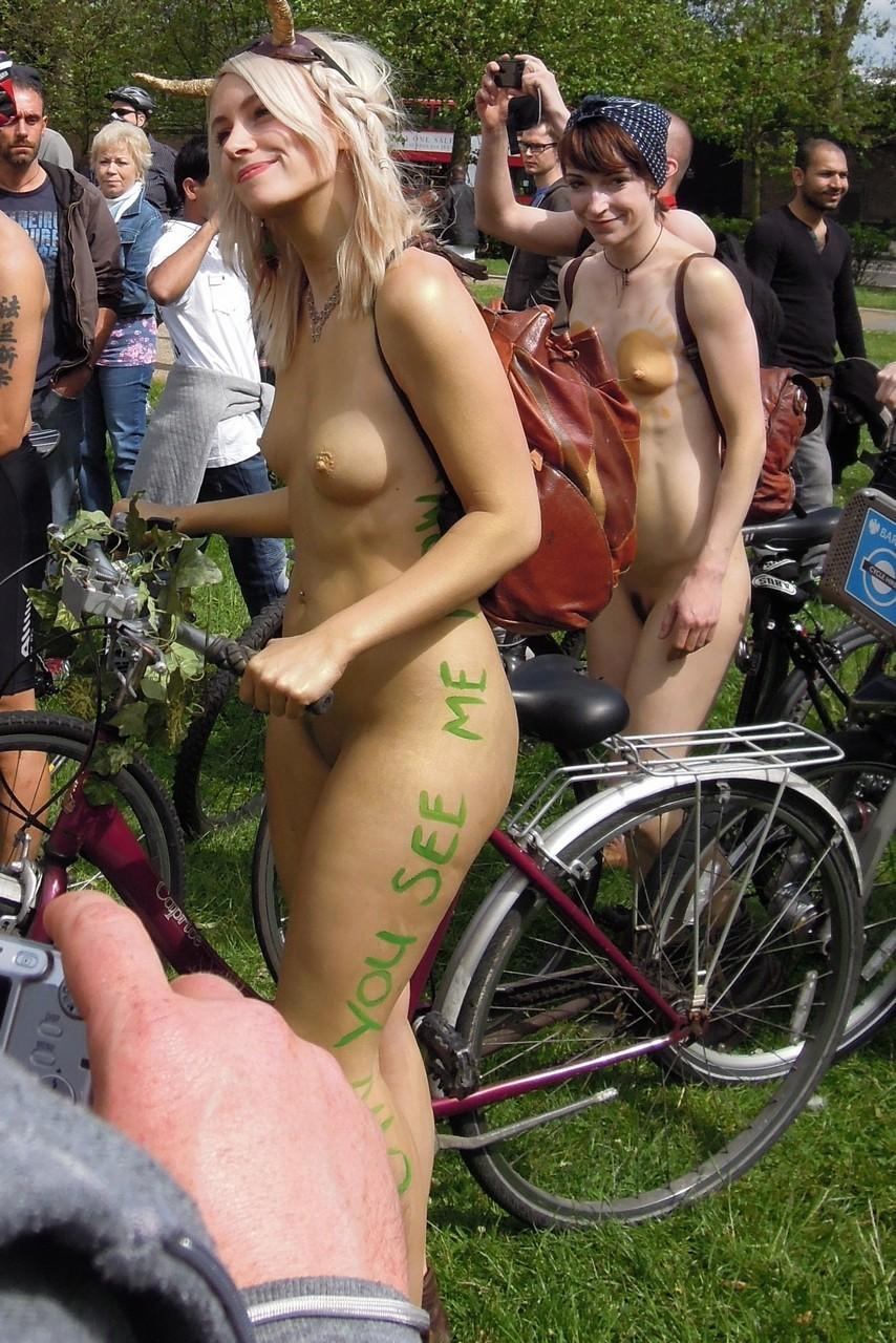 Naked Bike Ride Nude Girls - Sexy Babes Naked Wallpaper-7369