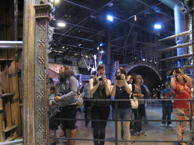 My best friend Row and me in the mirror of erised taken at the Harry Potter studio tour in London! :D
