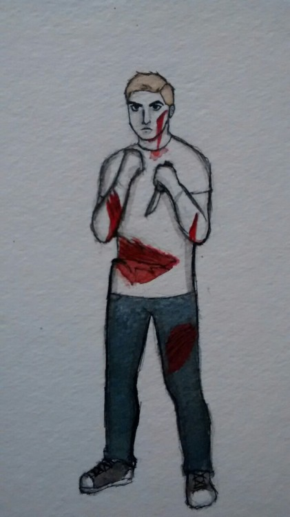 1 'excessive gashes/ lacerations' for goretober. Also part of inktober. Took 30-45 minutes. Second time using inks