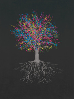 "thelookingglassgallery:  ""It Grows On Trees - Technicolor"" by John Tibbott"