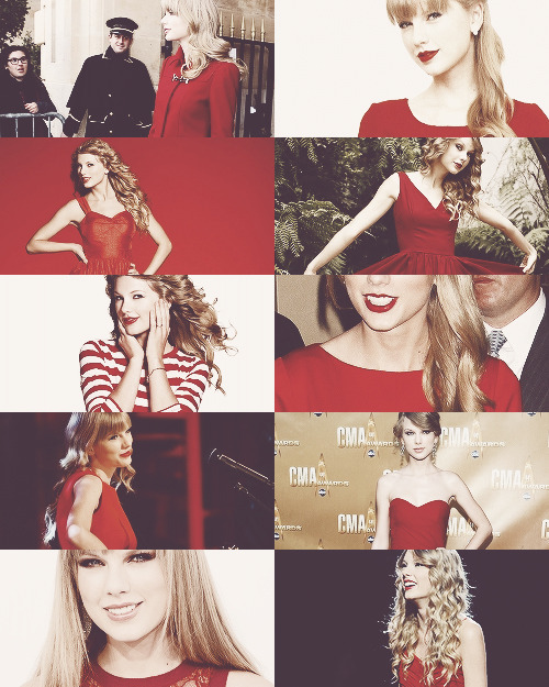 tsvvifts:   Taylor Swift + Red