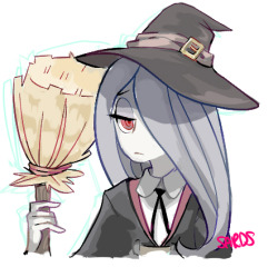 SUCY I TRIED TO DO HER OUTFIT FROM MEMORY. WOOPS.  Please ignore stuff.