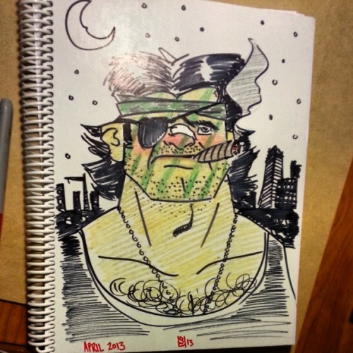 """The name's Snake."" #callmeplissken New sketchbook cover!"