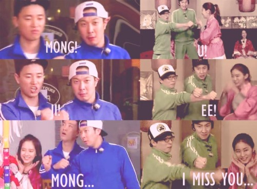 runningmankpopworld:  I like Mong!Ji!Mong better LOL