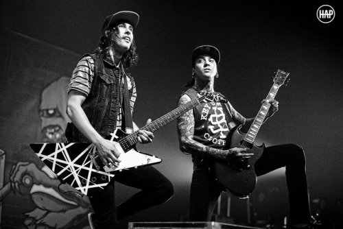 ineedtofindmywaybacktothestart:  Vic and Tony of Pierce The Veil by Heather Phillips on Flickr.