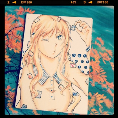 a new aceo card i happened to draw on impulse or so… xD' andy yay for aokise colors xDD