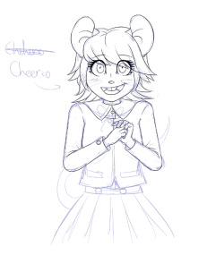 WIP shot of my anthro version of Chihiro Fujisaki My internal organs have been destroyed