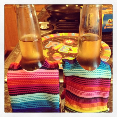 BEER PONCHOS for Mexican Tuesday.