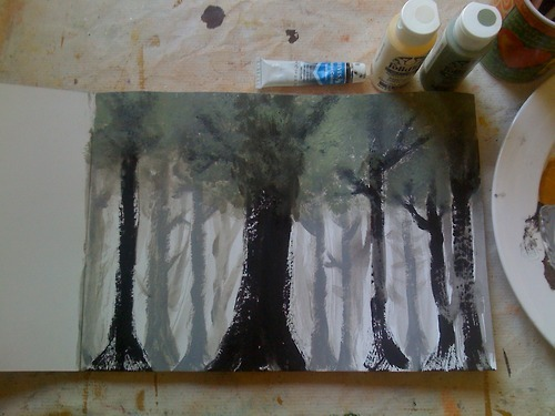 The Dire Weald An attempt at painting by my hand, inspired by the works of H.P Lovecraft.