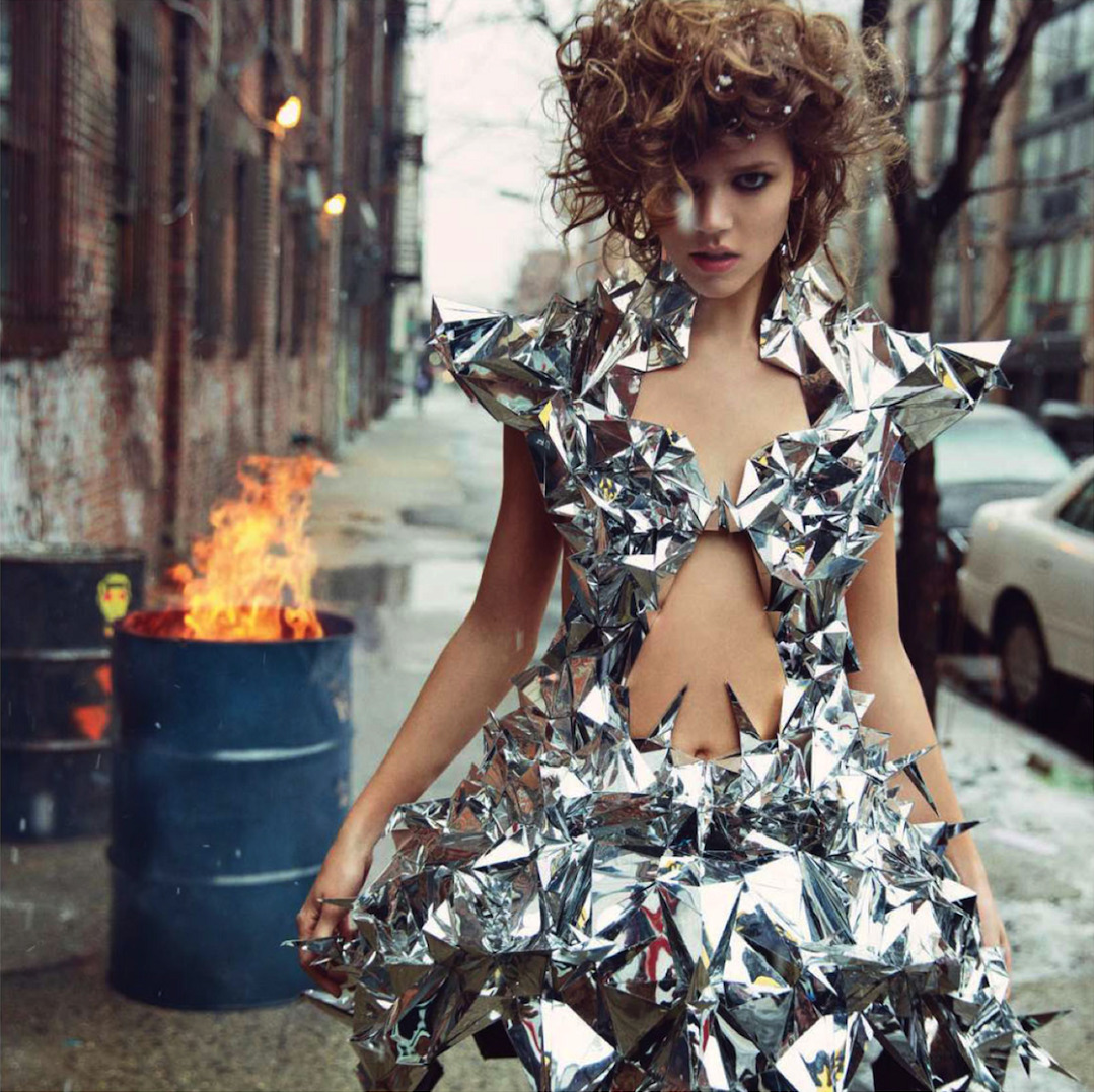 fuckyeahfrejabeha:  Freja Beha Erichsen in Iris van Herpen Couture, by Inez & Vinoodh for Vogue Paris May 2013  Paris is burning