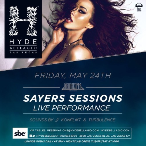We're absolutely excited to have back @jscoppapresents :: @thesayersclub #Sessions at @hydebellagio this #Friday!! #LivePerformances  #Vegas #SayersClub #bellagio #mdw  #Summer #party #hollywood  (at The Sayers Club)