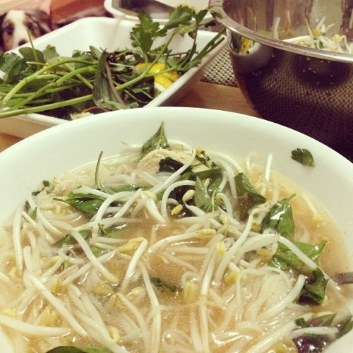 #homemade #pho #ga our #dad is the #best oh and #riot #dog #photobomb @karenlouise_ @marilou7863
