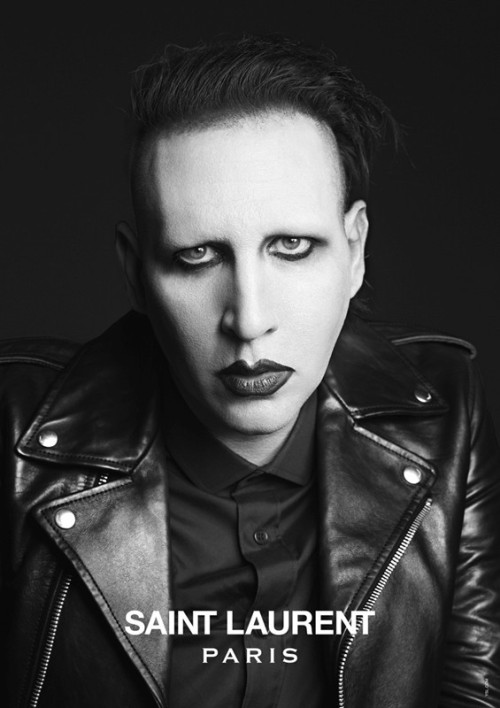 From the #SaintLaurent music project campaign starring @marilynmanson @Courtney Love and @arielxpink cc @YSL