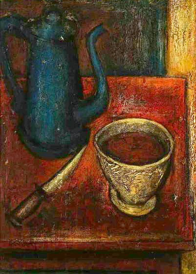 Joris Houwen Still Life with Coffee Pot 20th century