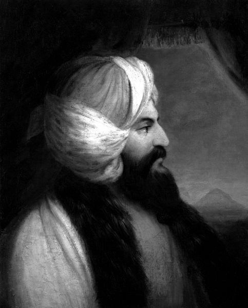 "fuckyeahhistorycrushes:  See this man and his magnificent turban? This is Giovanni Batista Belzoni! He was a six-foot-seven strongman with a travelling circus until he ended up in Egypt to show off his engineering skills to the Khedive of Egypt and Sudan. Yep, he wasn't just muscles. He'd worked out a hydrolics system that would raise the waters of a little river known as THE NILE! The job didn't pan out ,but did that bum out the Great Belzoni and his chameleon-collecting, cross-dressing wife, Sarah? No it did not! Instead they set off down the nile, fell in love with Egypt and became archeologists. Have you ever seen the statue of Ramses II in the British Museum? You know how it got there. Let me give you a hint. 130 men, a pully and log system and all of engineering skills that sit under that fancy headwear. He also had to fight off some gun-toting frenchmen who also wanted the giant statute! There is a reason ""The Young Memnon"" isn't in a French Museum. In fact a fair slab of the stuff found in the British museum is all there thanks to him. You know the Pyramid of Khafre? Guess who was the first European inside that baby in thousands of years? Was it the french who wanted to blow the entrance open with dynomite? Was it the English who kept taking credit for Belzoni's awesome discoveries? Or was it a giant bearded Italian strongman who used nothing but his enginuity (and a battering ram). And he made sure Henry Salt couldn't take all the credit like he did for some of Belzoni's other finds, the Italian wrote BELZONI WAS HERE in giant undesputible letters on the wall. Most historians frown on him for this, but then again most historians weren't the first inside a freakin' pyramid. He was also the first inside the Tomb of Seti I, also known as KV17. Go look it up. We'll wait. Yep. See that Egyptian splendor. All found by Belzoni. To sum up. Imagine Indianna Jones as an Goliathian Italian Strongman who blew his way into tombs with battering rams and had brawls with other archeologists who tried to touch his stuff. That's Belzoni."