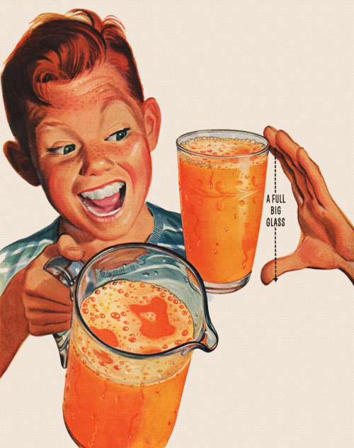 theniftyfifties:  Florida Orange Juice advertisement, 1951