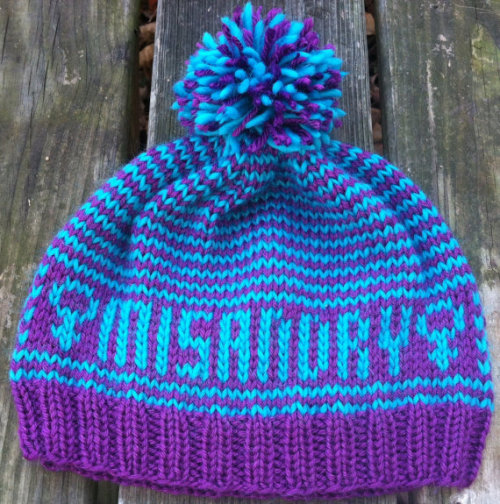 (via MadetoOrder Misandry hat by GlitzKnitsBoutique on Etsy) I wish I could afford this right now.
