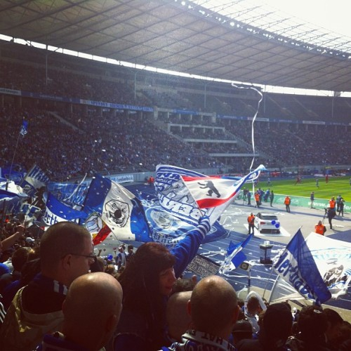 My First #soccer Game in #berlin! And we won! ☺ #hertha #bsc #fußball #igersberlin #kathaindergrossenstadt