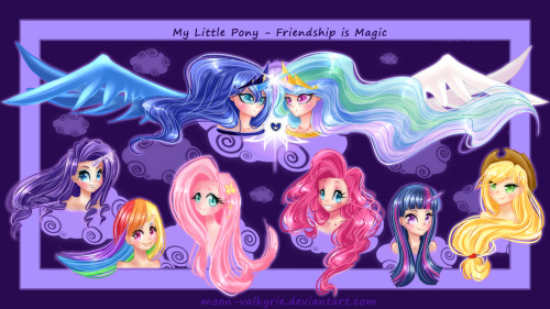 Humanized Ponies by moon-valkyrie If you like these, Moon-valkyrie offers commissions (including point commissions)