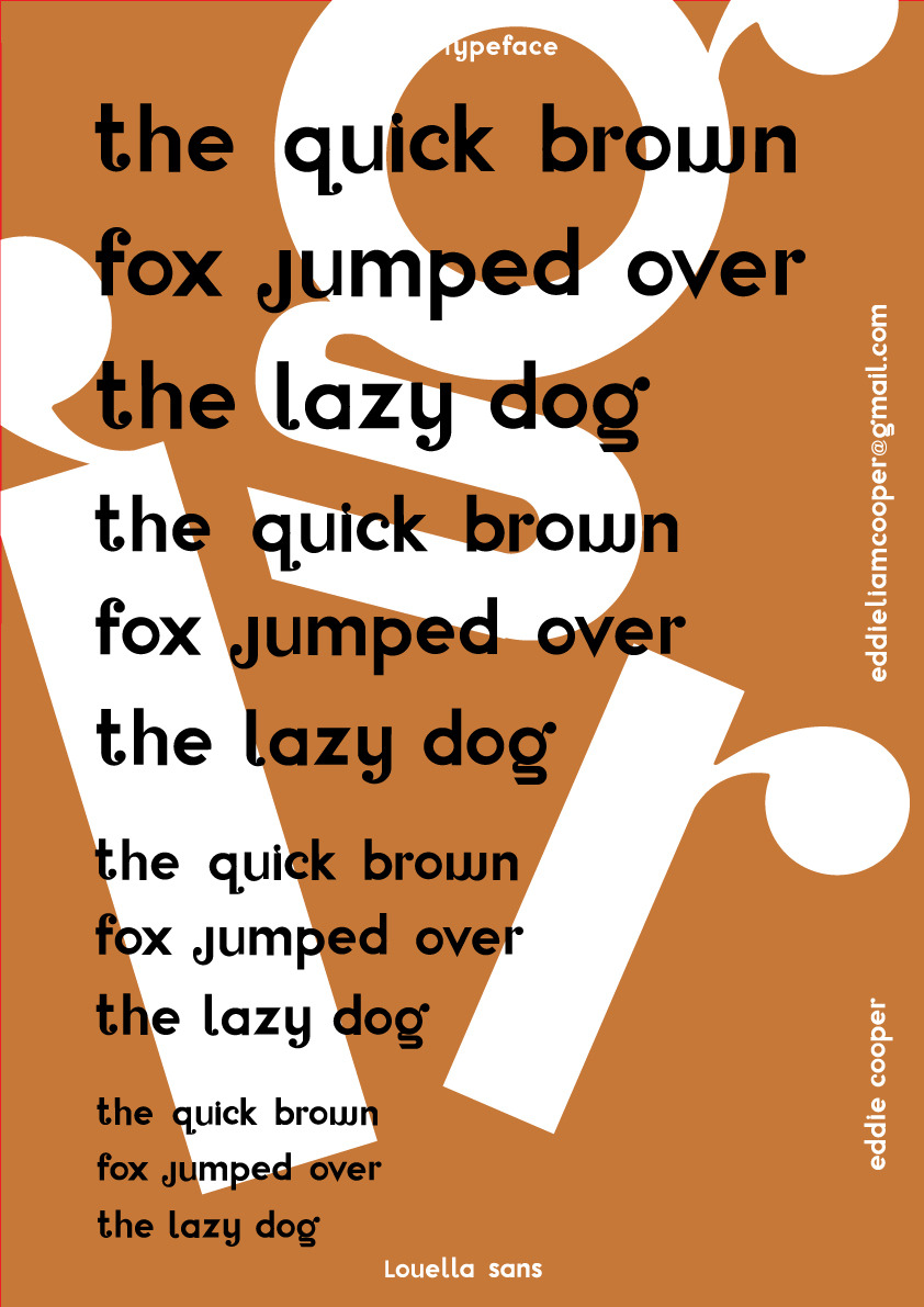 Louella sans lower case type specimen - Typeface Coming sooneddieisnotavailable.tumblr.com