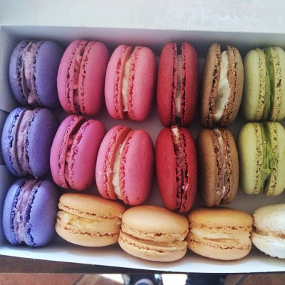 Baked some Macarons for @kjoyceg hope you like it ☺ thanks for all the help @ssshushsss @wuizzy and @markgreyes ☺😊 #frenchmacarons #macarons #ube#taro#raspberry#rose#redvelvet#coffee#grandmarnier#greentea#thaitea#coconut