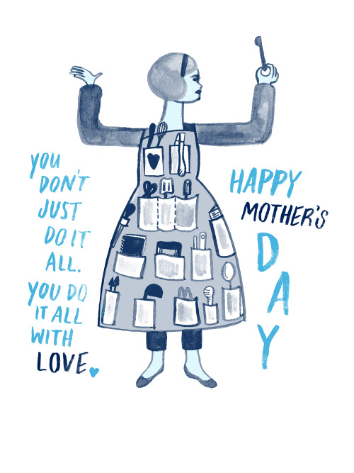 eatsleepdraw:  Mother's Day is right around the corner. Get her a cute print, tote bag or t-shirt for carrying you in her belly.