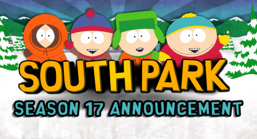 comedycentral:  southparkdigital:  South Park returns for its 17th season with 10 all-new episodes on Wednesday, September 25 on Comedy Central!   Check out this exclusive New York Times article for more information…  http://cart.mn/Season17news  Boom!  Read: No Spring run this year, just ten episodes in the fall. (Normally the show does seven in the Spring and seven in the Fall.) This will give them availability to do other projects.