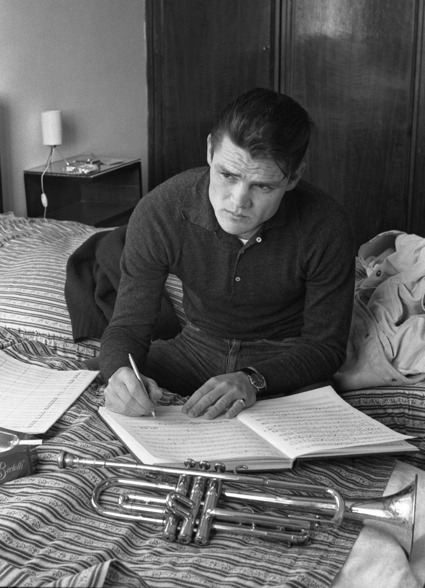 Chet Baker reads and writes (music, natch).