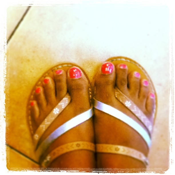 Treated my toesies to some color for a job well done yday ^_^ #ballet #dancerfeet