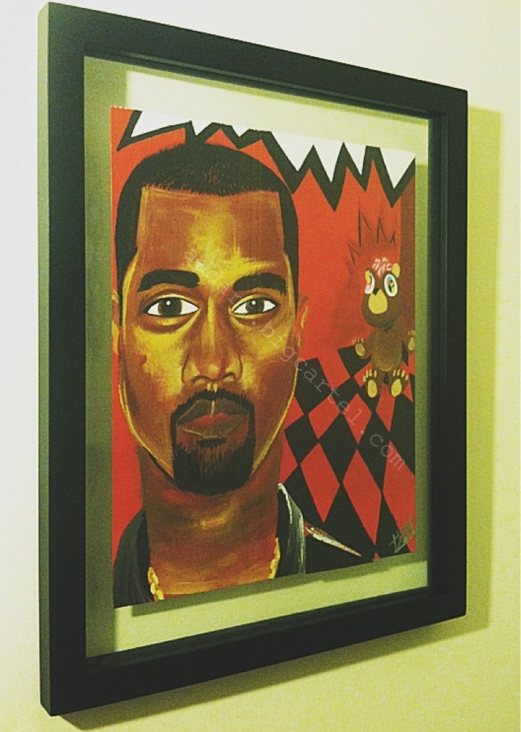 "panic-paisley:  #Kanye West fine art prints for sale here !  11""x17"". hand signed, numbered, and dated prior to ship!   #BlackArtistsNetwork  follow here !"