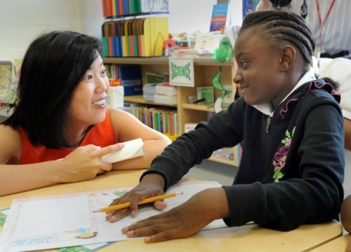 "koreamjournal:  Michelle Rhee, the education celebrity who rocketed from obscurity to OprahWashington Post  In camera-ready red, Michelle Rhee started the week on the set of MSNBC's ""Morning Joe."" The next night, she was the subject of an hour-long documentary on ""Frontline."" In several weeks, she'll tour the country to promote her new memoir, ""Radical."" In the two years since her short and stormy tenure as chancellor of the District's public schools, Rhee has transformed herself into an education celebrity, the likes of which the country hasn't seen before.   She is certainly NOT an education celebrity, she's a villain. One of the worst advocates ""for students"" ever. Privatization is not the answer, blaming teachers and punishing teachers are not the answer, charter schools are not the answer."