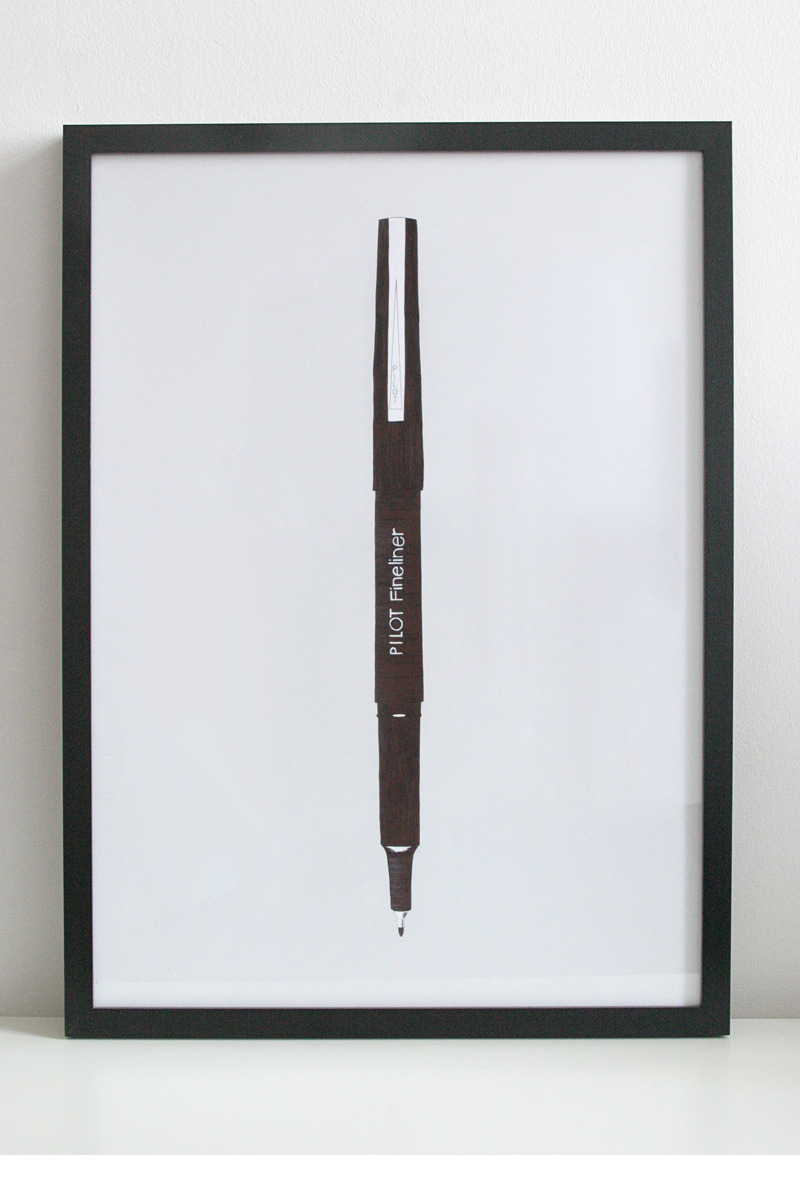 So meta.     handeyesupply: Sidney Rogers : Illustrations of pens on paper