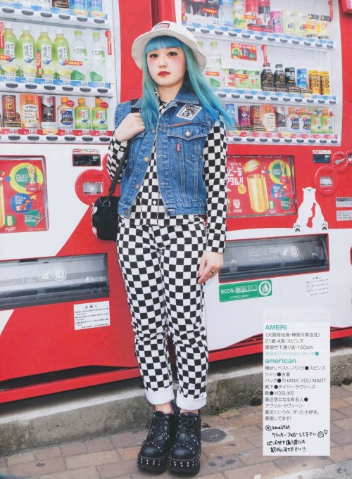 jfashion pop kei kera fashion kawaii kawaii fashion japanese fashion japanese style japanese street fashion blue hair magazine scan street snap street style fruits magazine grunge pastel fashion pastel goth grunge fashion