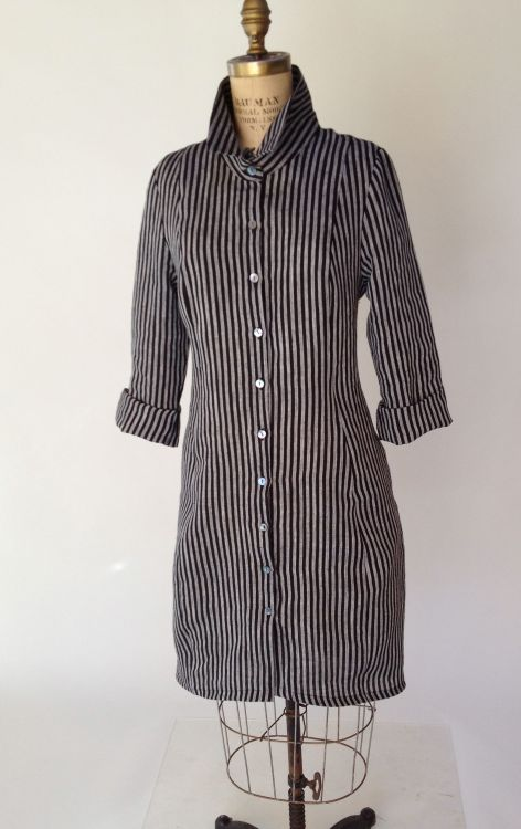Striped Coat Dress
