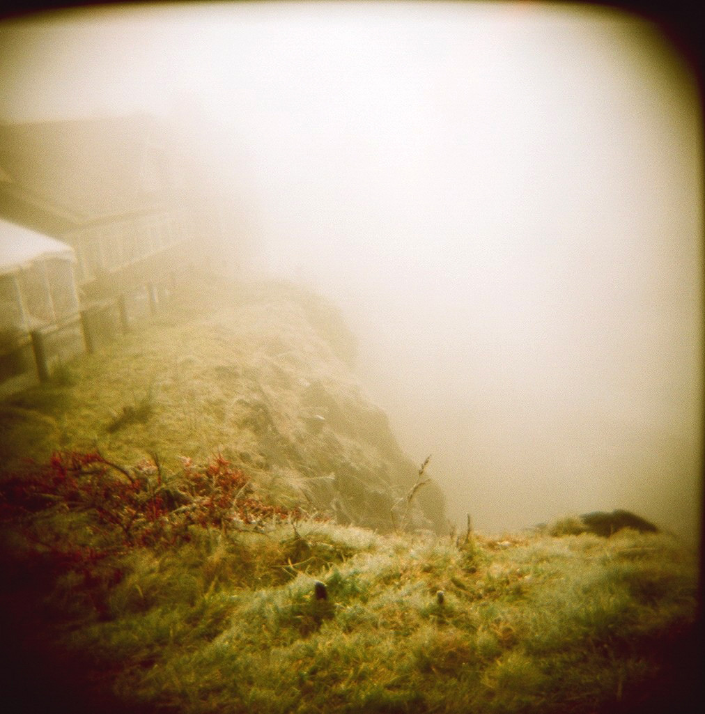 """The Fog Covered Waterfall"" Holga120N"