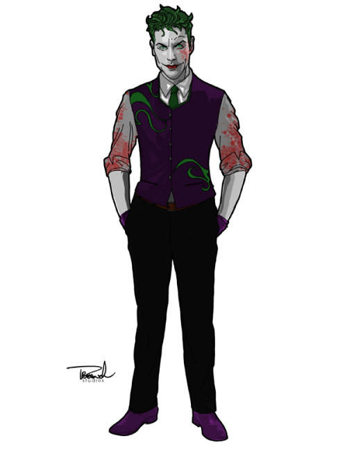 thehappysorceress:  branch56:  Joker. To be honest, I've held off drawing the Joker for a while now. What kind of Joker would I draw? Elegant crazy, stylish crazy, classic crazy, movie crazy, Snyder crazy….the possibilities!! I went more for stylish crazy because I think, deep down, that's *MY* Joker. A Kevin Spacey, Se7en, type of focused, mental state slowly collapsing, type of fanatic. A dark serious rage in a low even voice, articulate and savage, whose passion for the madness of it all, crescendos into his laughter. A laughter that shivers through your body as you come to the realization that its that last thing you'll hear.   And it's this Joker that I find most frightening.