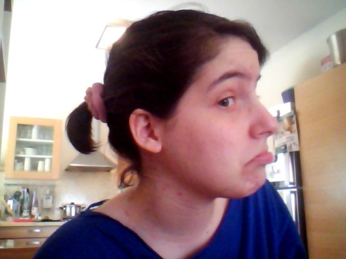 i tried to put my hair up and all i got was this tiny ponytail