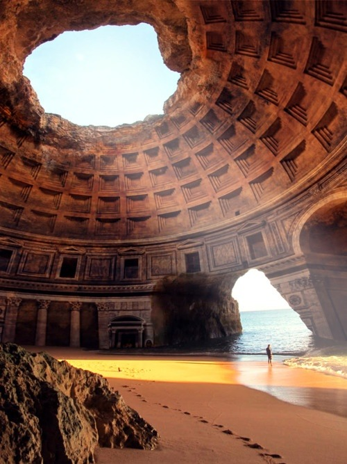 bulletfly:  Forgotten Temple of Lysistrata, Greece  Get the fuck outta here lol This Photoshop is horrible.