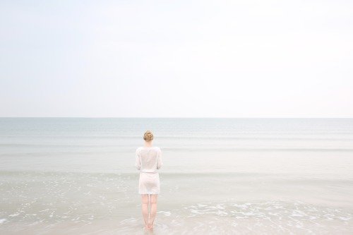 ktjanewood:  Lonely By The Sea, Self-portrait