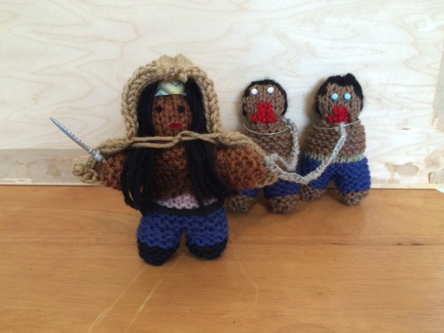 Michonne Doll and her valets. :o